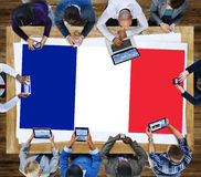 France Country Flag Nationality Culture Liberty Concept Stock Photos