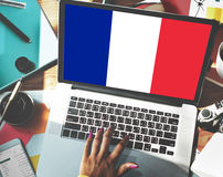 France Country Flag Nationality Culture Liberty Concept Stock Images