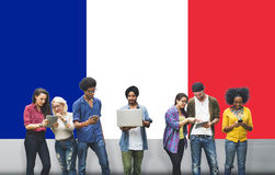France Country Flag Nationality Culture Liberty Concept Stock Photography