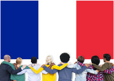 France Country Flag Nationality Culture Liberty Concept Royalty Free Stock Images