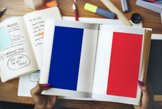 France Country Flag Nationality Culture Liberty Concept. France Country Flag Nationality Culture Liberty Stock Image