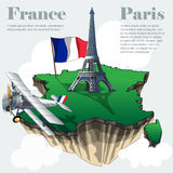 France country infographic map in 3d Royalty Free Stock Image