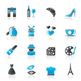 France culture and industry icons Stock Photo