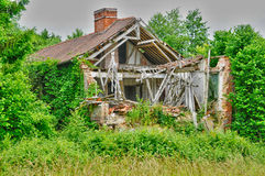 France, damaged house in Perriers sur Andelle Stock Images