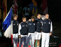 France Davis Cup Team Royalty Free Stock Image