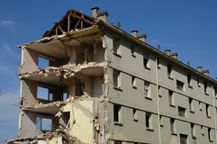 France, demolition of an old building in Les mureaux Royalty Free Stock Photos