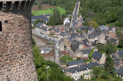 France: Dinan Valley & St. Catherine's Tower Royalty Free Stock Photography