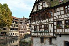 france droga wodna Strasbourg Obraz Royalty Free