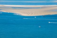 France. The Dune of Pilat is the tallest sand dune in Europe stock photo