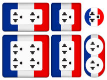 France electrical outlet Royalty Free Stock Photography