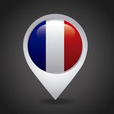 france emblem with french flag colors Stock Photo