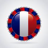 france emblem with french flag colors Royalty Free Stock Photo