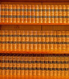 France encyclopedia Revue des Deux mondes Library in palace Saint Anton form 19. cent. Stock Photos