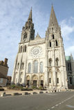 France, Eure et Loir, Chartres, Notre Dame de Chartres Cathedral Stock Photography