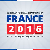 France 2016 euro footbal cup poster. Royalty Free Stock Photography