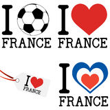 France europe soccer icons collection Stock Photography