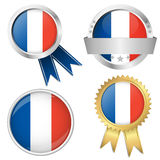 France europe soccer icons collection Royalty Free Stock Image