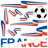 france europe soccer icons collection Royalty Free Stock Images