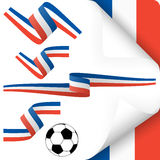 france europe soccer icons collection Stock Image