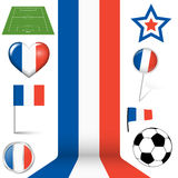 france europe soccer icons collection Stock Photos