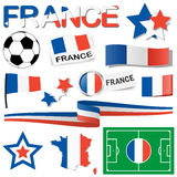 france europe soccer icons collection Royalty Free Stock Photo