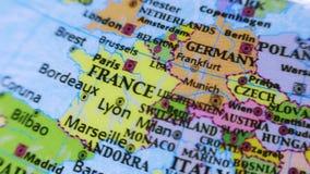 France. Europe. Terrestrial Globe 4K stock footage