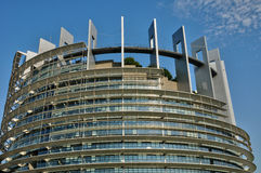France, European Parliament of Strasbourg Stock Photos