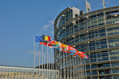 France, European Parliament of Strasbourg. France, the European Parliament of Strasbourg Stock Photography