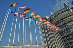 France, European Parliament of Strasbourg Royalty Free Stock Photos