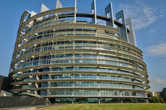 France, European Parliament of Strasbourg Stock Image