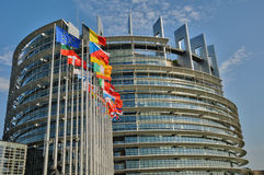 France, European Parliament of Strasbourg Stock Photos