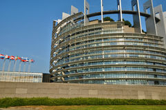 France, European Parliament of Strasbourg Stock Photography