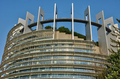 France, European Parliament of Strasbourg. France, the European Parliament of Strasbourg Stock Photo