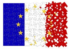 France Exit Europe - concept image in jigsaw puzzle shape.  Stock Images