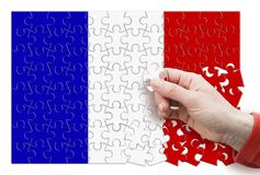 France Exit Europe - concept image in jigsaw puzzle shape.  Stock Photography