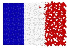 France Exit Europe - concept image in jigsaw puzzle shape.  Stock Photos