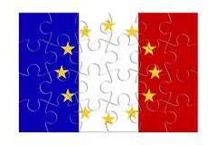 France Exit Europe - concept image in jigsaw puzzle shape.  Stock Image