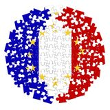 France Exit Europe - concept image in jigsaw puzzle shape.  Royalty Free Stock Images