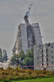 France, explosion of an old building in Les Mureaux Stock Photos