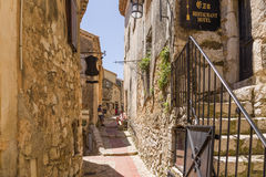 France. Eze-Village. Eze is a commune in the Alpes-Maritimes department in southeastern France, not far from the city of Nice. The commune is located on French Royalty Free Stock Images