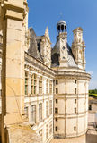 France. Facade of the keep of the castle of Chambord (1519 - 1547 years.), Supposedly designed by Leonardo da Vinci Royalty Free Stock Photography