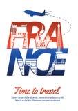 France famous landmark silhouette style inside text,national fla vector illustration