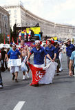 France fans on Khreshchatyk Royalty Free Stock Images