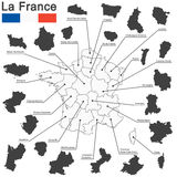 France and federal states Stock Photography