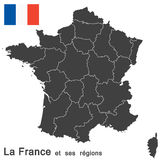 France and federal states Royalty Free Stock Images