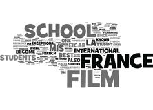 France Film School Text Background Word Cloud Concept Royalty Free Stock Photos