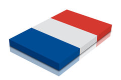 France flag. 3d Render with reflection royalty free illustration