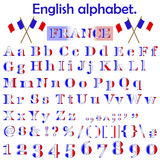 France flag alphabet. Stock Images