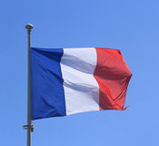France flag on blue sky Royalty Free Stock Photography