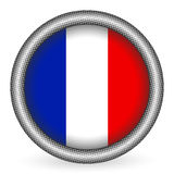 France flag button. On a white background. Vector illustration Stock Photography